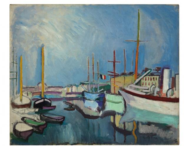 Raoul Dufy, Le Port du Havre, vers 1905-1906, huile sur toile, 54 x 64,7 cm, Coll. part. © Christie's Images / Bridgeman Images © ADAGP, Paris 2019